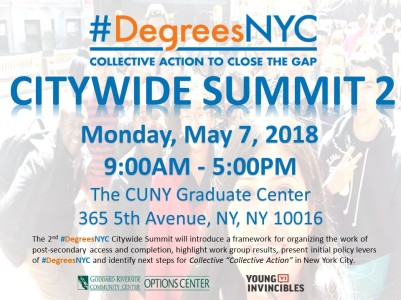 Thank You For Attending The Degreesnyc Citywide Summit 2 On May 7 At The Cuny Graduate Center We Introduced A Framework For Organizing The Work Of